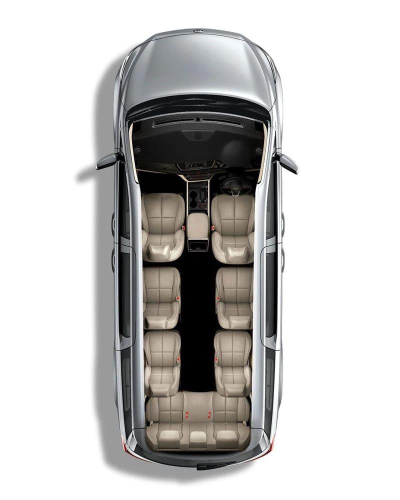 9 Seater Kia Carnival - Top View